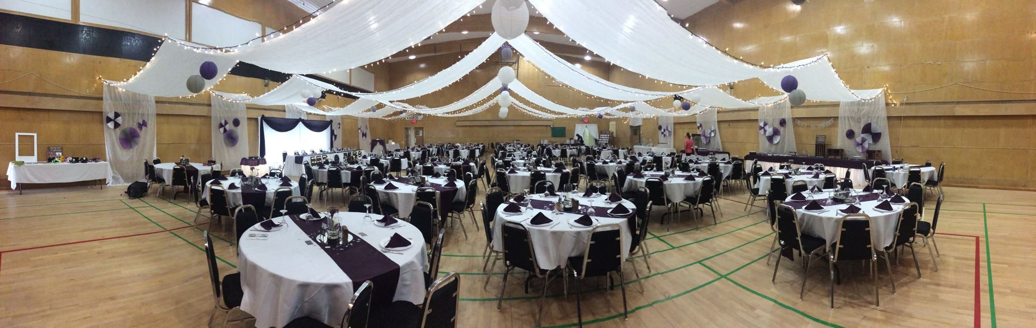 Image of Civic Centre gym set up for a wedding
